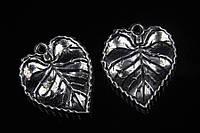 Листик металлический Kunzea, материал металл, цвет серебро, фигурки для рукоделия, Товары для творчества, Рукоделие, фигурки