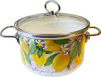 Кастрюля эмалированная Vitross Limon, 5 л