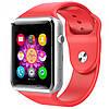 Смарт часы А1 Red, сенсорные, сим карта