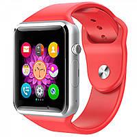 Смарт годинник А1 Red, сенсорні, сім карта, фото 1