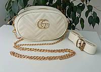Сумка женская Gucci belt bag. Сумка на пояс/клатч   Сумочка гучи