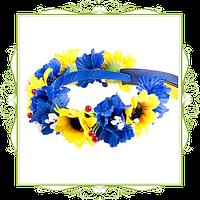 Венок украинский желто-голубой большой