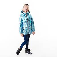 Демисезонная куртка-жилет для девочки, размеры на рост 110-134