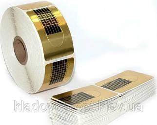 Форма для наращивания ногтей узкая золото 500 шт