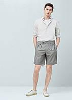 Рубашка MANGO MAN 529-44 Светло-серый