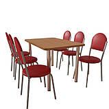Комплект мебели  для кафе: стол обеденный Хром + 6 стульев Velas, фото 2