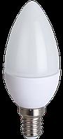 LED лампа С37, 5W, цоколь Е14, 4100К, свеча