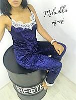 Женский велюровый домашний костюм (пижама)