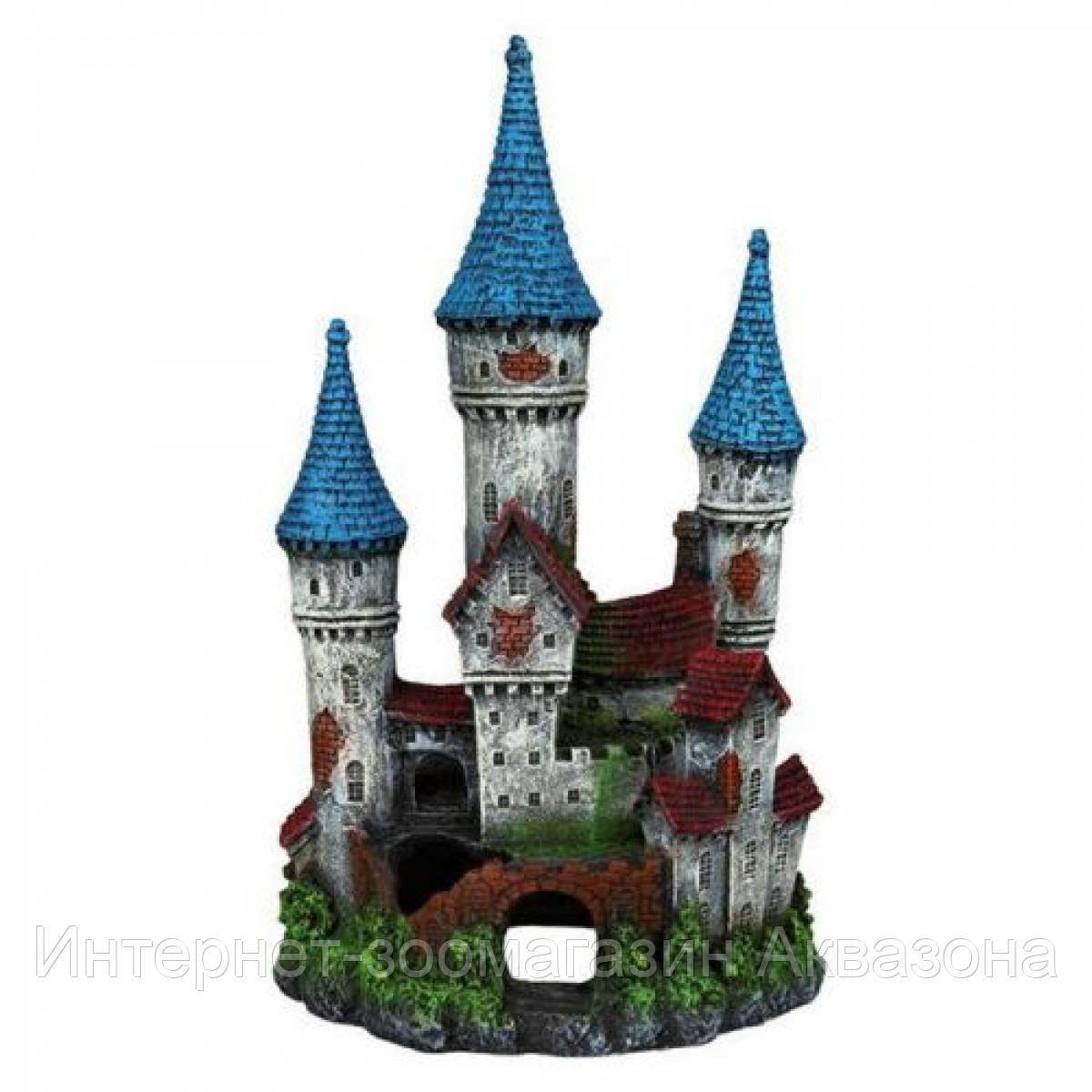 Trixie декорация для аквариума. Замок с башенками
