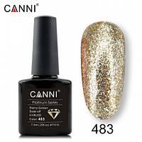 Гель-лак жидкая фольга Canni № 483 светлое золото