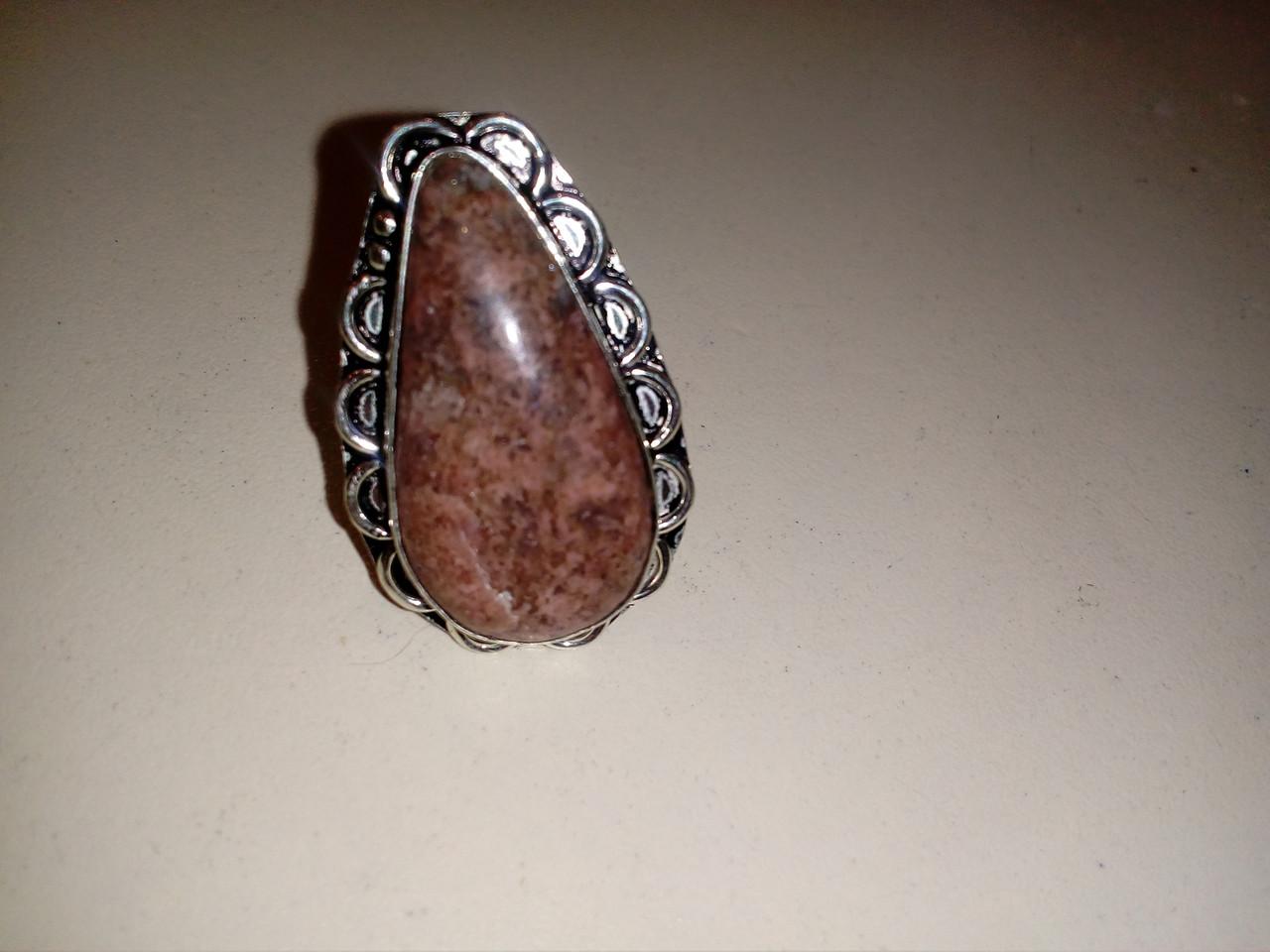 Агат красиве кільце з агатом в сріблі. Кільце з каменем агат 17,3 розмір Індія