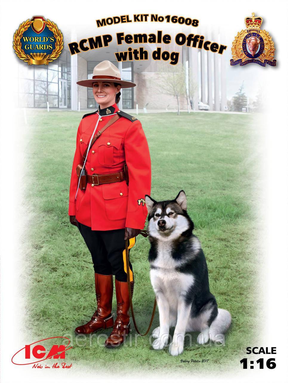 Офицер Королевской Канадской Конной Полиции с собакой 1/16 ICM 16008