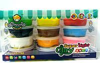 Масса пластическая Claydoll 12 цветов