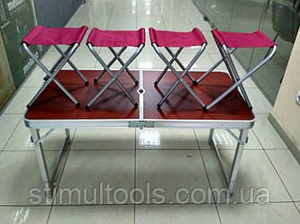 Стіл Посилений для пікніка + 4 стільця