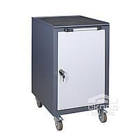 Металлическая инструментальная тумба ТИ Д с дверцей 900(h)х500х600 мм