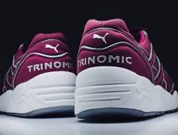 Мужские Puma x Icny Trinomic R698 Бордовый , фото 2