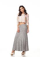 Женская юбка макси. Модель Ю093_серая вязка., фото 1