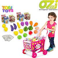 Детская тележка для покупок Tobi Toys