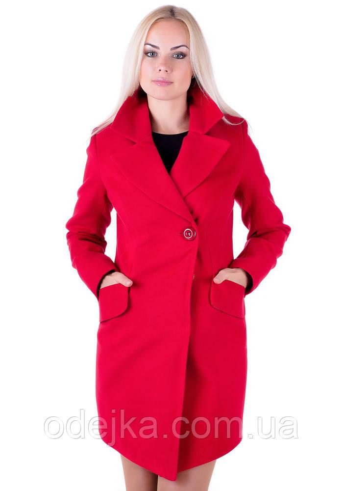 8876e66a8e6 Осеннее женское пальто VOL ange Оля красный