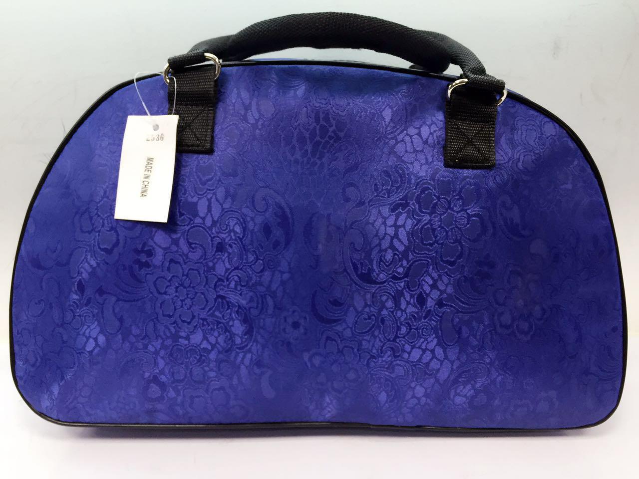 Дорожная сумка синяя текстиль