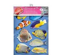 Наклейка, рыбы, подводный мир, интерьерная Наш Декупаж