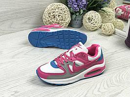 Кроссовки женские белые с малиновым Nike Air Max 4851