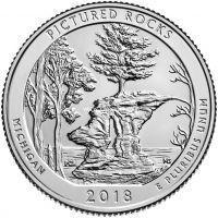 США 25 центов 2018, 41 Парк, Национальный парк Пикчерд Рокс