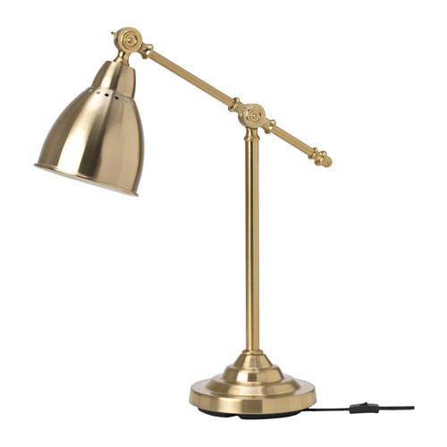 Настольная лампа IKEA BAROMETER рабочая желтая медь 003.580.37