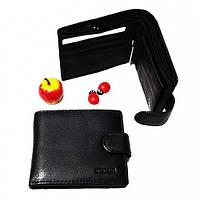 Кожаные портмоне Sezfert +ЗАЖИМ (черный)12*7