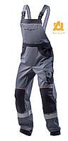 Спецодежда рабочий мужской полукомбинезон демисезонный с карманами AURUM сверхпрочная ткань, фото 1