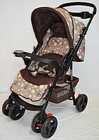 Прогулочная детская коляска Sigma K-118F с перекидной ручкой и мягким матрасиком, фото 1