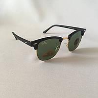 Солнцезащитные очки Ray Ban Clubmaster зеленый