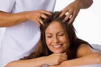 Массаж головы усиливает рост волос!
