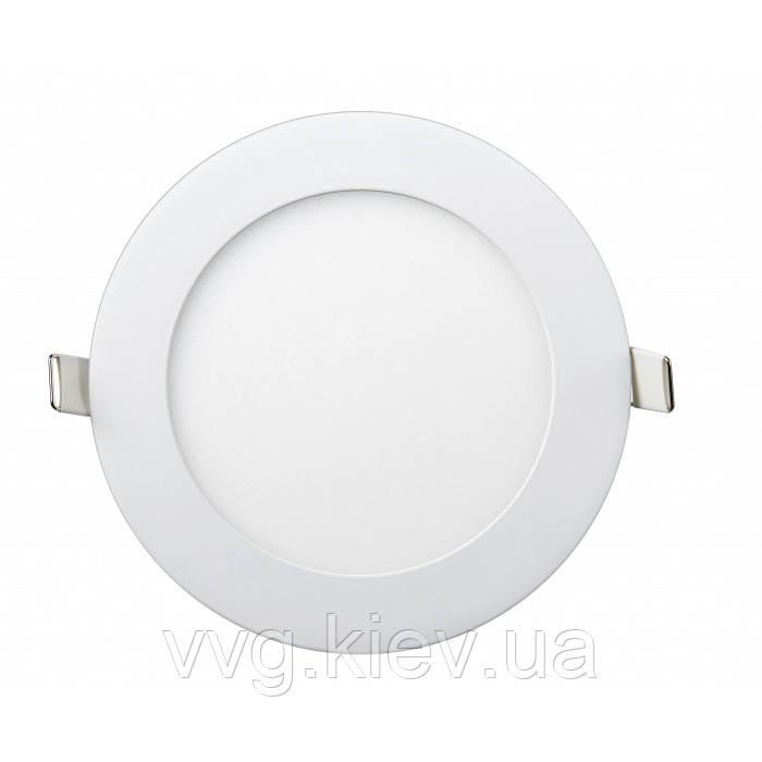 Точечный LED светильник встраиваемый круглый 9W Ø145мм/Ø132мм 6400K 710lm Lezard