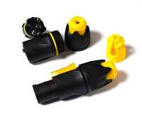 01-04-38. Штекер PowerCon 3-х контактактный, пластиковый, под шнур, влагостойкий