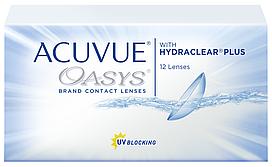Контактные линзы Acuvue Oasys with hydraclear plus (двухнедельные) (1 шт)