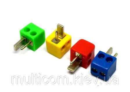 """01-05-002. Штекер колоночный """"точка-тире"""" под кабель, квадратный, (под винт)"""