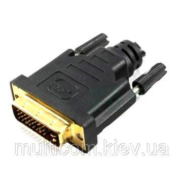 01-05-046. Штекер DVI(24+1) под кабель, gold pin, разборной, корпус пластик