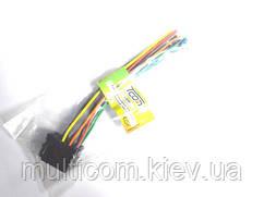 01-07-28. Разъём автомагнитолы ISO (гнездо) сдвоенный, с кабелем