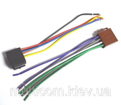 01-17-004. Разъём автомагнитолы ISO (гнездо), не сдвоенный, с кабелем 20см