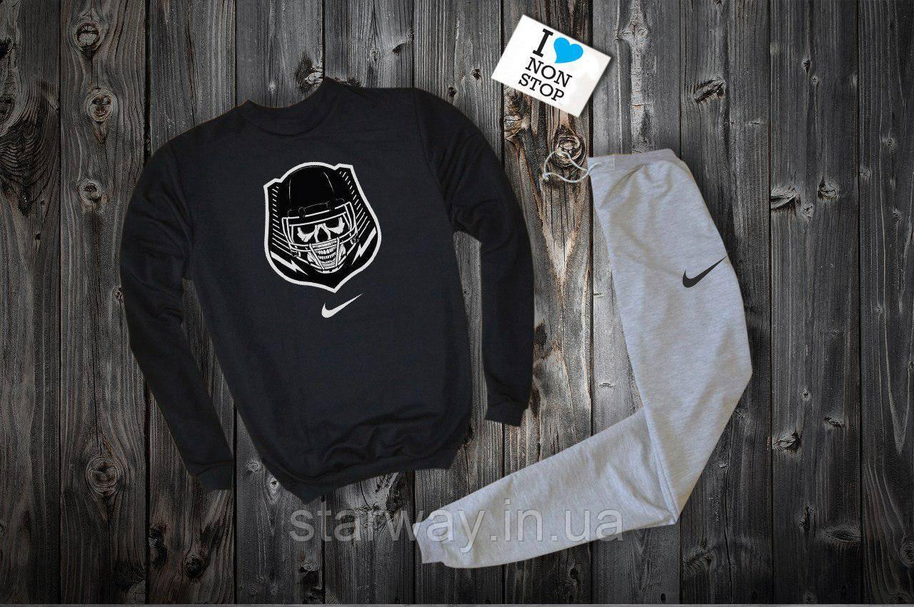 Спортивный костюм Nike gamer logo чёрный верх серый низ