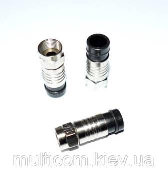 01-09-103. Штекер F (RG-6), компрессионный, под кабель, медь