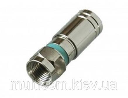 01-09-112. Штекер F (RG-6), компрессионный, под кабель, медь