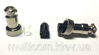 """01-08-28. Разъём MIC 325 mini , """"гнездо"""", под кабель, 5pin, диам.-12мм"""