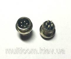 """01-06-012. Разъём MIC 335 mini, """"штекер"""", монтажный, 5pin, диам.-12мм"""