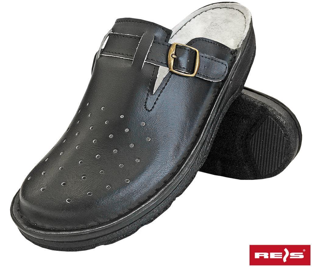 Медицинская мужская черная обувь REIS Польша BMRKLADZ