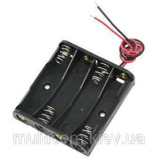 01-13-32. Корпус для батареек ААА х4 однорядный с проводом