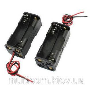 01-13-34. Корпус для батареек АА х4 двухрядный 2*2 с проводом