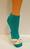 Носки женские цветные заниженные хлопковые, фото 1