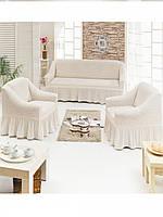 Чехол на 3-х местный диван + 2 кресла TM Demfirat Karven
